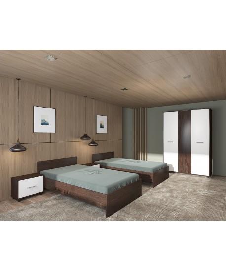 Dormitor HERA CU 2 PATURI DE 140 x 200 cm