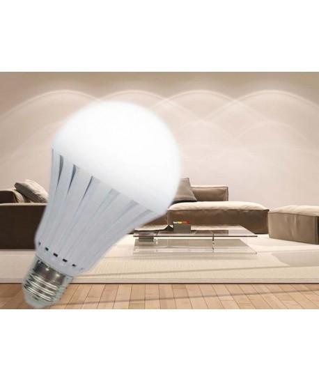 Bec inteligent lampa de urgenta cu leduri 7W E27 alb cald