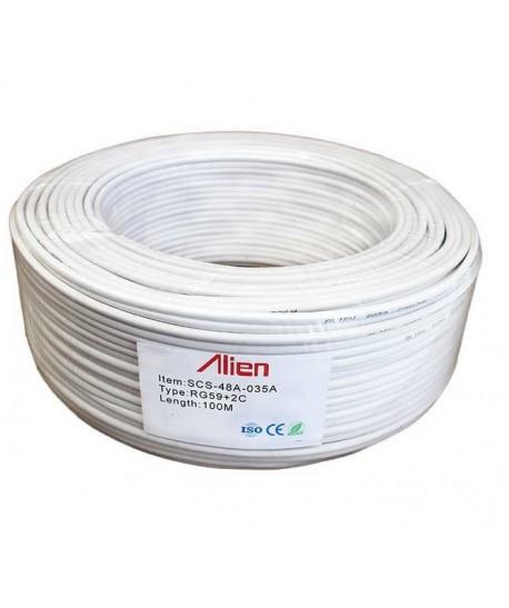 Cablu coaxial RG59+2x0.35mm2 camere CCS