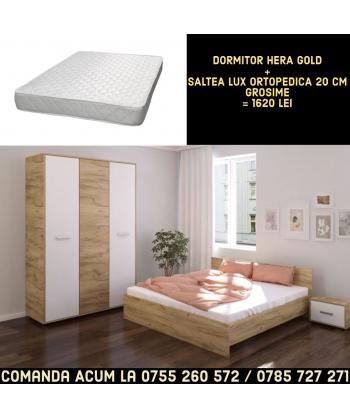 Dormitor Hera II + Saltea...
