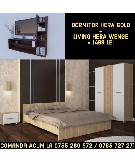 Dormitor Hera GOLD + Living HERA WENGE