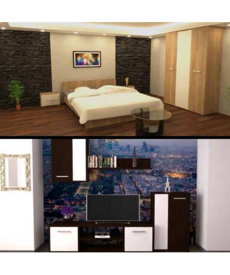 Dormitor Hera II + Living Makaza