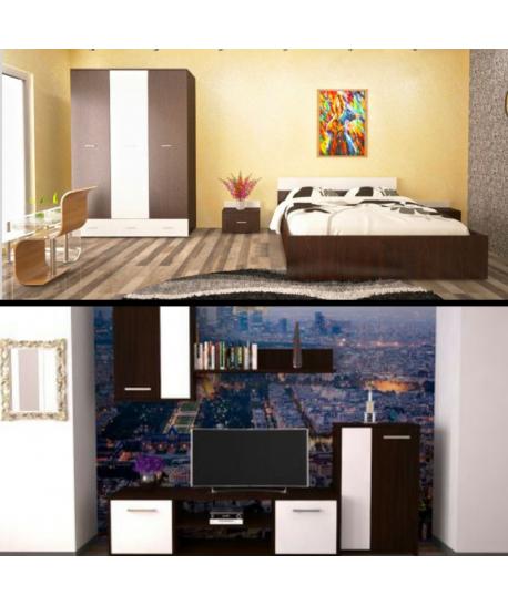 Dormitor Viktoria + Living Makaza